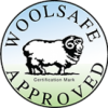 Woolsafe approved logo.