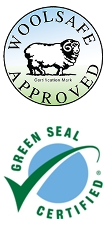 woolsafe and greenseal approved logos