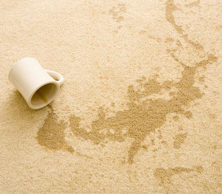 Tea spill on living room carpet